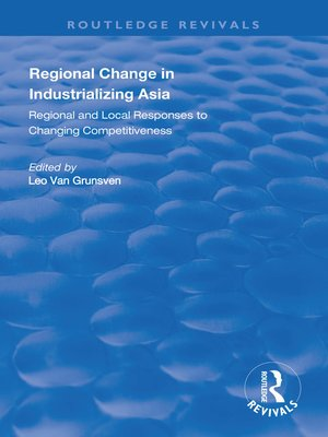 cover image of Regional Change in Industrializing Asia