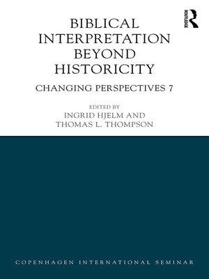 cover image of Biblical Interpretation Beyond Historicity