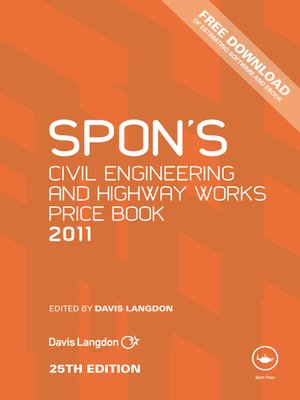 cover image of Spon's Civil Engineering and Highway Works Price Book 2011
