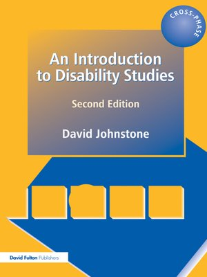 cover image of An Introduction to Disability Studies