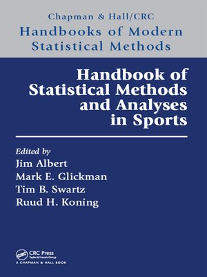 cover image of Handbook of Statistical Methods and Analyses in Sports