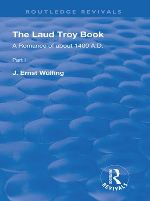 cover image of The Laud Troy Book