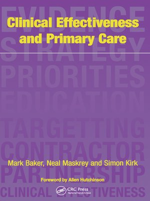 cover image of Clinical Effectiveness in Primary Care