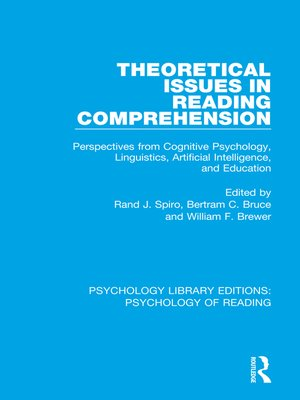 cover image of Theoretical Issues in Reading Comprehension