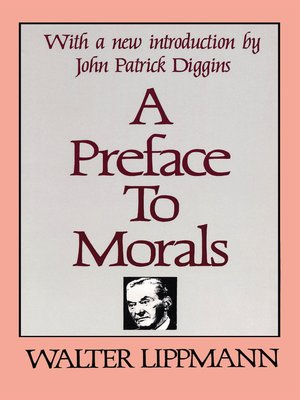 cover image of A Preface to Morals
