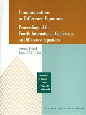 cover image of Communications in Difference Equations