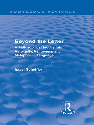 cover image of Beyond the Letter (Routledge Revivals)