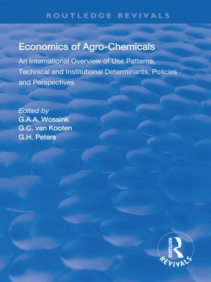 cover image of The Economics of Agro-Chemicals