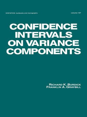 cover image of Confidence Intervals on Variance Components