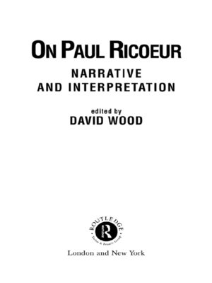 cover image of On Paul Ricoeur