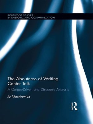 cover image of The Aboutness of Writing Center Talk