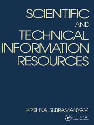 cover image of Scientific and Technical Information Resources