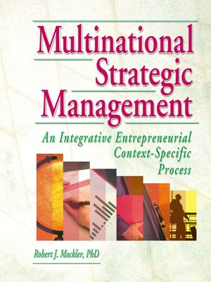 cover image of Multinational Strategic Management