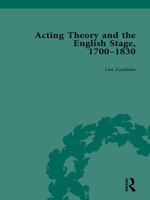 cover image of Acting Theory and the English Stage, 1700-1830 Volume 1