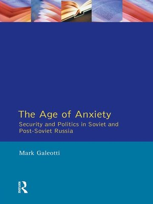 cover image of The Age of Anxiety