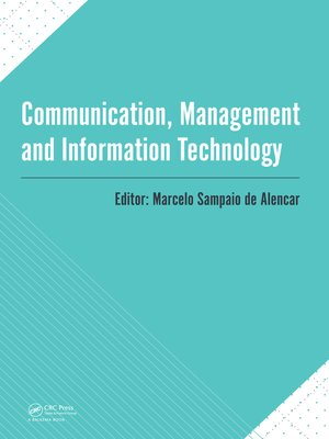 cover image of Communication, Management and Information Technology