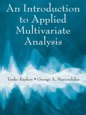 cover image of An Introduction to Applied Multivariate Analysis