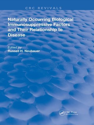 cover image of Naturally Occuring Biological Immunosuppressive Factors and Their Relationship to Disease