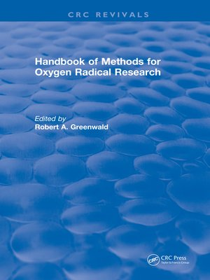 cover image of Handbook Methods For Oxygen Radical Research