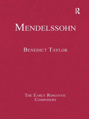 cover image of Mendelssohn