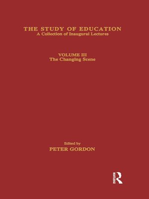 cover image of The Study of Education