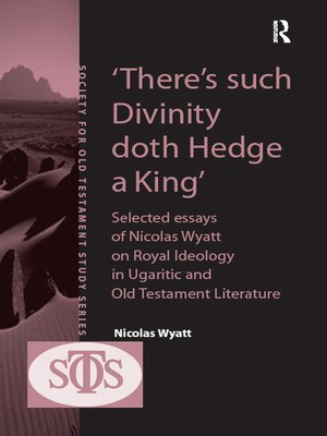 cover image of 'There's such Divinity doth Hedge a King'