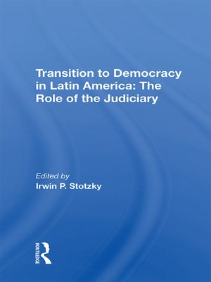 cover image of Transition to Democracy In Latin America
