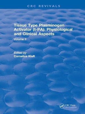 cover image of Tissue Type Plasminogen Activity