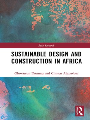 cover image of Sustainable Design and Construction in Africa