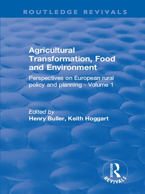 cover image of Agricultural Transformation, Food and Environment