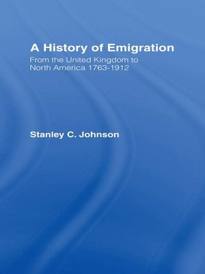 cover image of Emigration from the United Kingdom to North America, 1763-1912