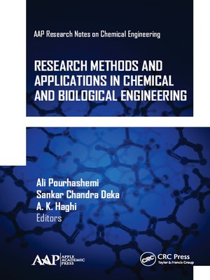 cover image of Research Methods and Applications in Chemical and Biological Engineering
