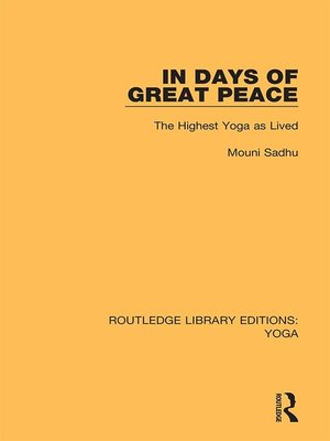 cover image of In Days of Great Peace