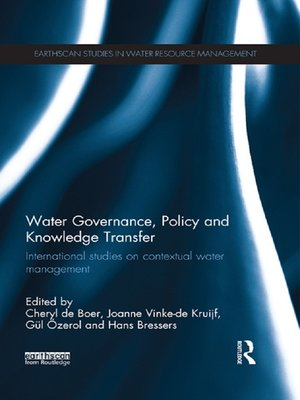 cover image of Water Governance, Policy and Knowledge Transfer
