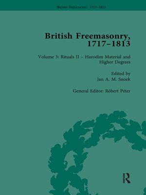 cover image of British Freemasonry, 1717-1813 Volume 3