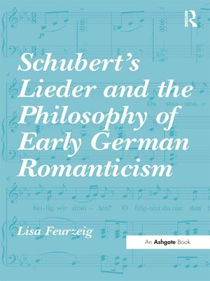 cover image of Schubert's Lieder and the Philosophy of Early German Romanticism