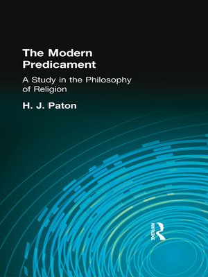 cover image of The Modern Predicament