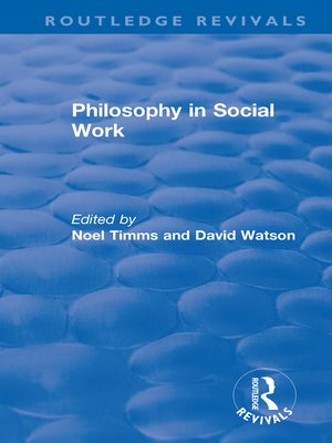 cover image of Philosophy in Social Work