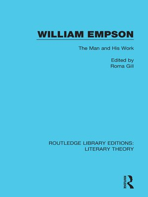 cover image of William Empson