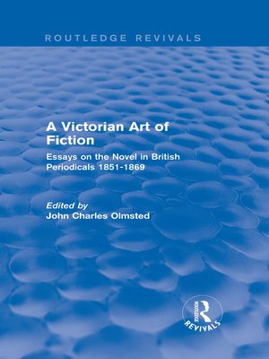 cover image of A Victorian Art of Fiction