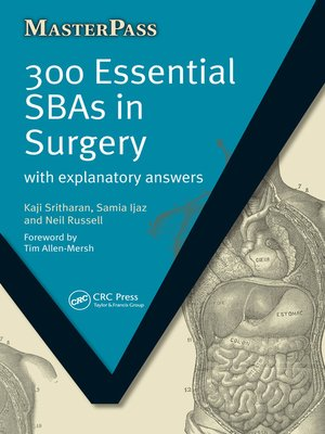cover image of 300 Essential SBAs in Surgery