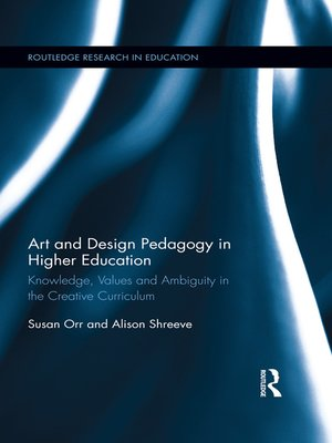 cover image of Art and Design Pedagogy in Higher Education