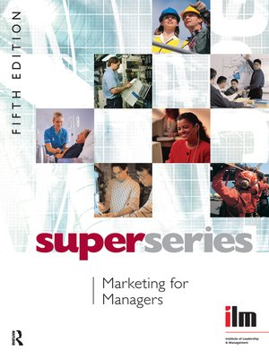 cover image of Marketing for Managers