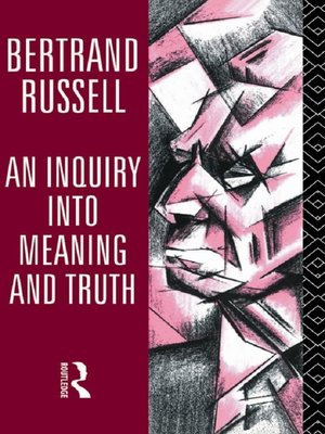 cover image of An Inquiry into Meaning and Truth