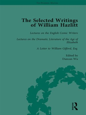 cover image of The Selected Writings of William Hazlitt Vol 5