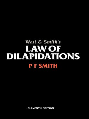 cover image of West & Smith's Law of Dilapidations