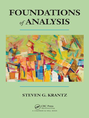 cover image of Foundations of Analysis