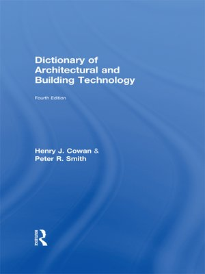 cover image of Dictionary of Architectural and Building Technology