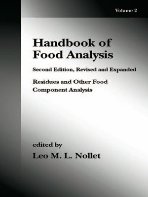 cover image of Handbook of Food Analysis