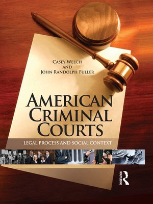cover image of American Criminal Courts